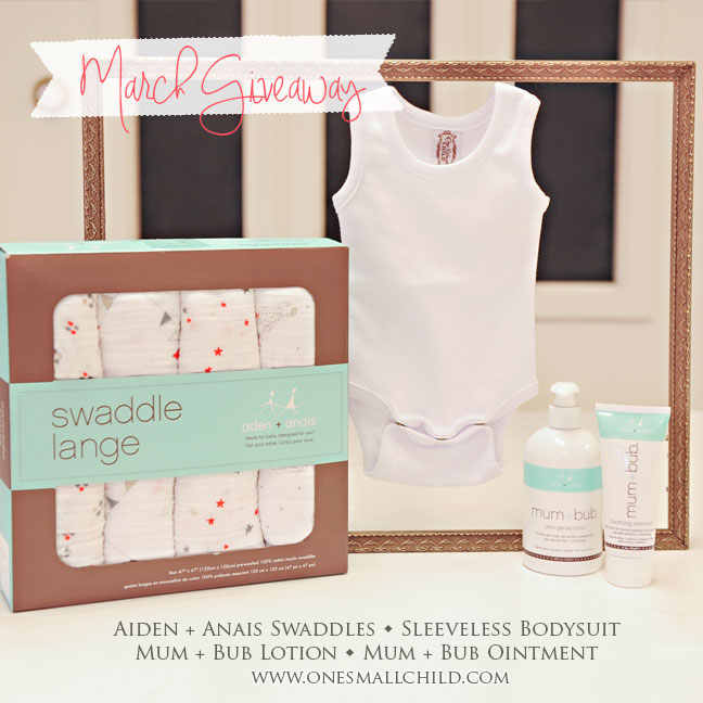 Baby Essentials | March Giveaway at One Small Child