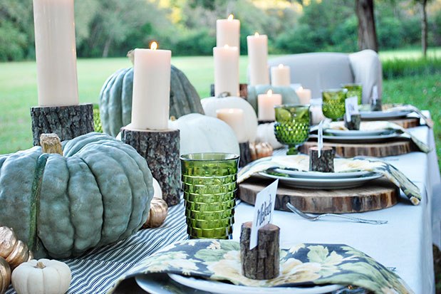 Outdoor baptism table decorations photograph fall christen