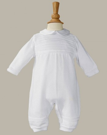 Boys Cotton Knit  Christening Baptism Coverall