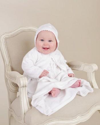 Alexa Rose Knit Christening Dress