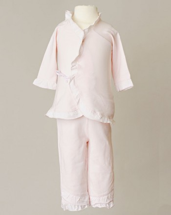Girls Four-Piece Bamboo Layette Set