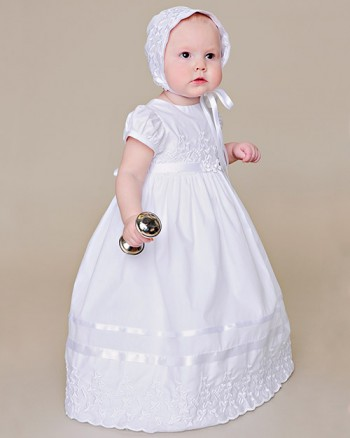 Erin Shamrock Cotton Christening Gown