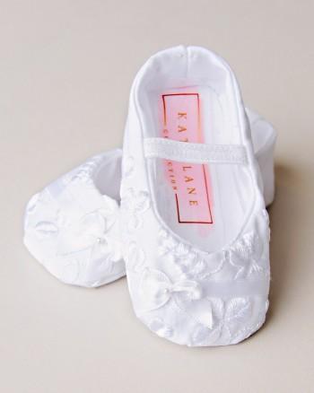 Erin Shamrock Christening Slippers