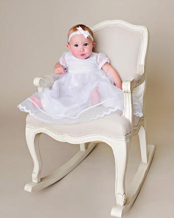Hazel Jane Tricot Christening Dress