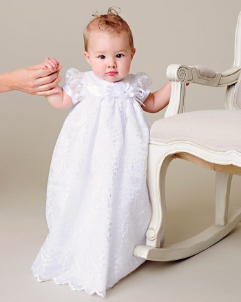 Jada White Christening Gown