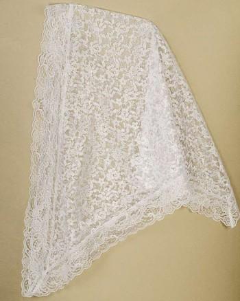 Lace Chapel Veil White