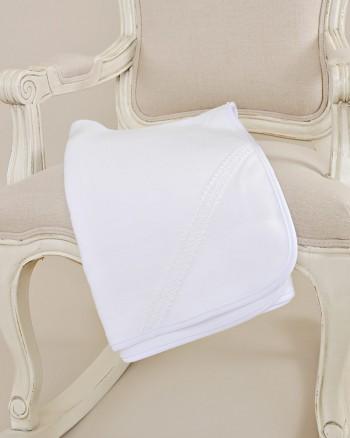 Lucas Christening Rib-Knit Blanket