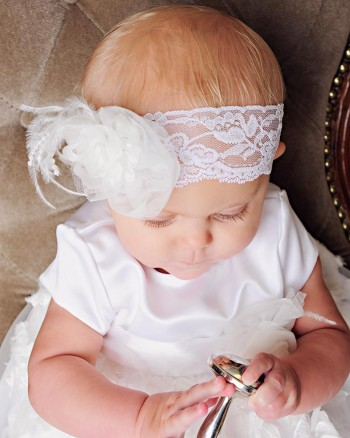 Margo Christening Headband