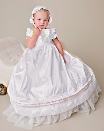 Phoebe Silk Christening Gown