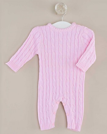 Pink Knit Jumpsuit