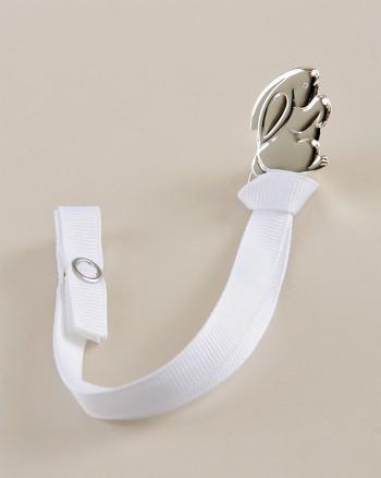 Silver Bunny Pacifier Clip
