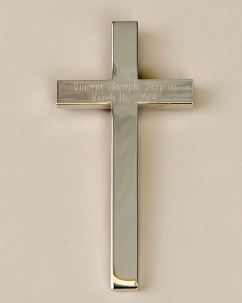 Simple Silver Wall Cross