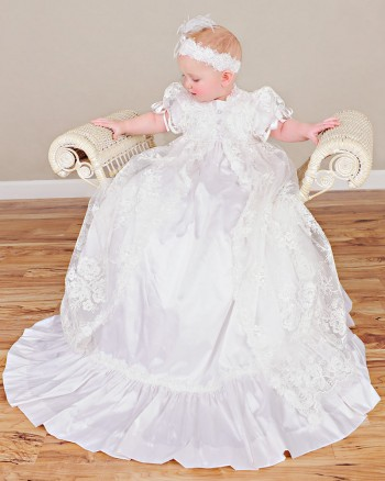 Sophi Silk Christening Gown