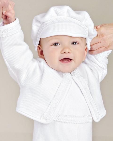 Lucas Rib-Knit Christening Outfit for Boys
