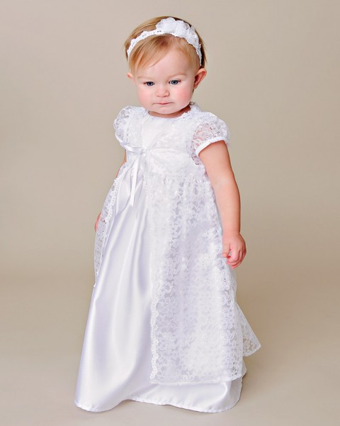 Violet christening gown for Making baptism dress from wedding gown