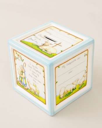 Blue Christening Gift Bank