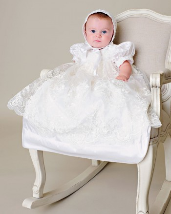 Chloe Silk Christening Gown