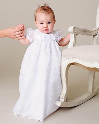 Jada White Christening Gown
