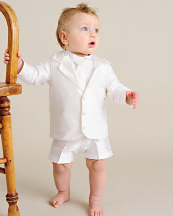 Kingston Silk Christening Suit