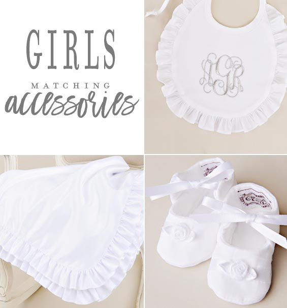 Girls Christening Gown Accessories