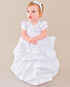 Satin Christening Dresses