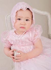 Caryssa Pink Christening Dresses - One Small Child