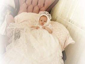 Customer Lucy Lace Christening Gown
