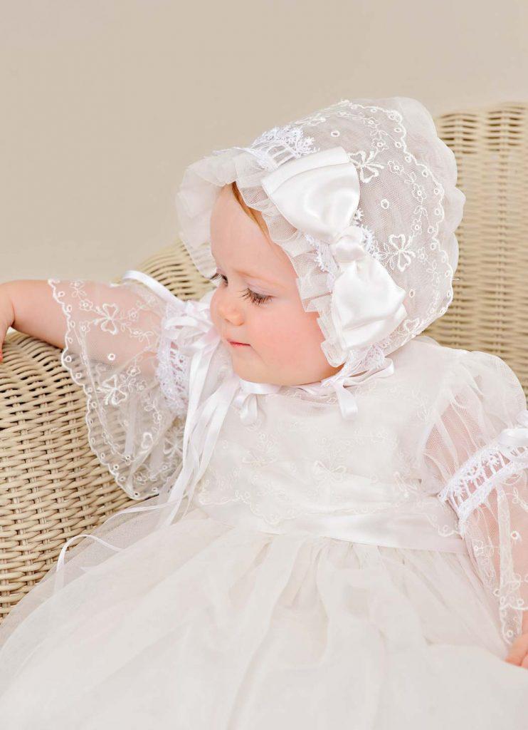 Silk Natalia Christening Gown