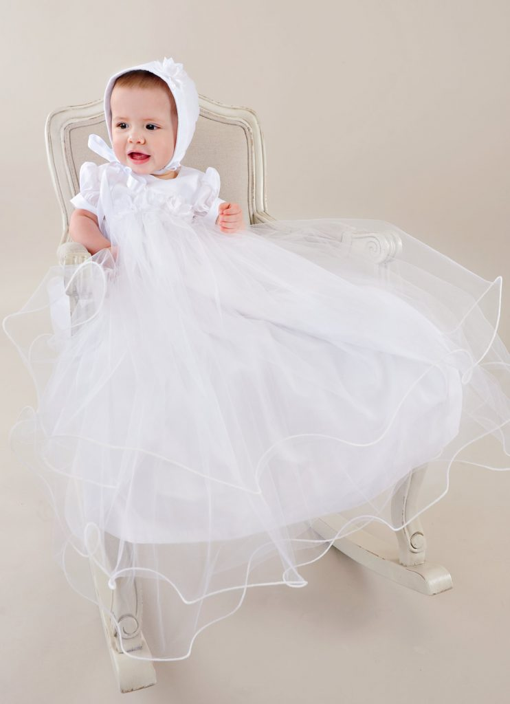 Shanna Tulle Christening Gown