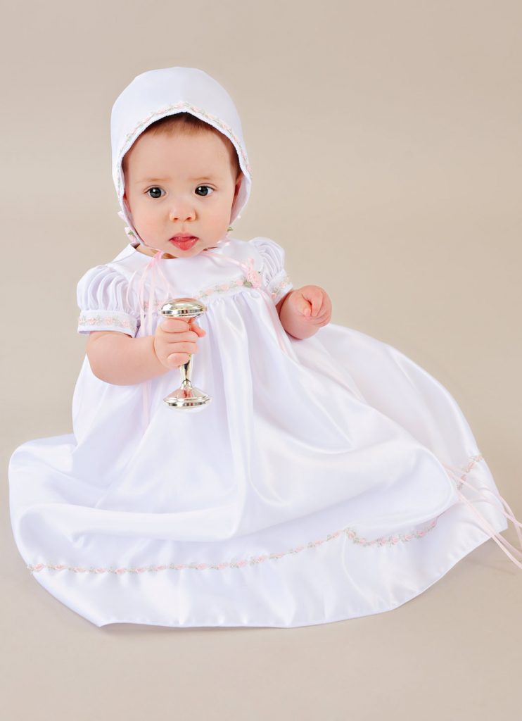 Mandi Satin Christening Dress