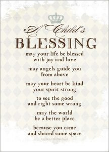 A Childs Blessing - One Small Child