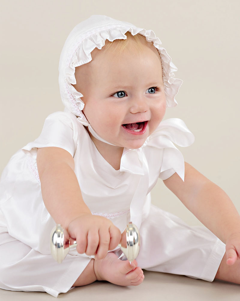 Phoebe Silk After Christening Romper - One Small Child