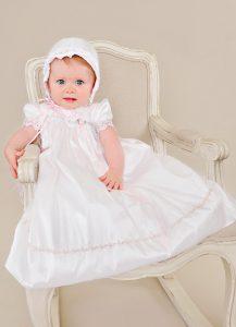 Tess Silk Christening Dress - One Small Child