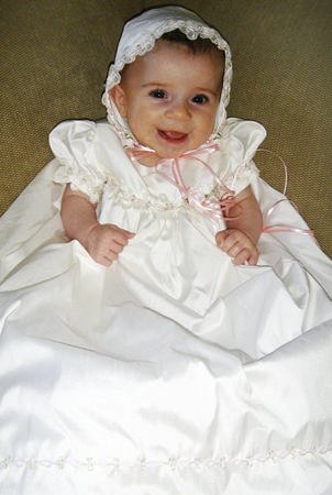 Silk Baptism Dress