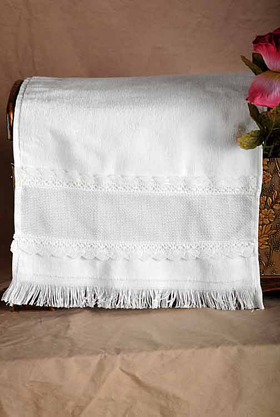Lace Trimmed Terry Towel