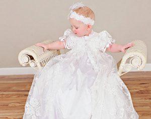 Sophi Silk Christening Gown