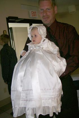 Jessa Silk Ruffle Christening Gown with Jane Coat - One Small Child