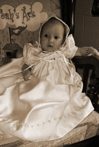 Mandi Satin Baptism Dress