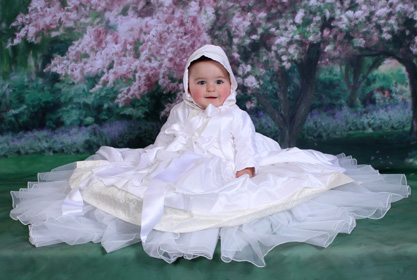 Virginia Embroidered Silk Christening Gowns