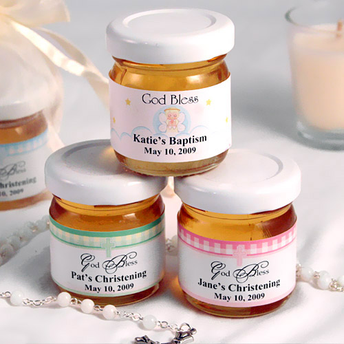 Beau Coup Honey Jar Christening Favors - One Small Child