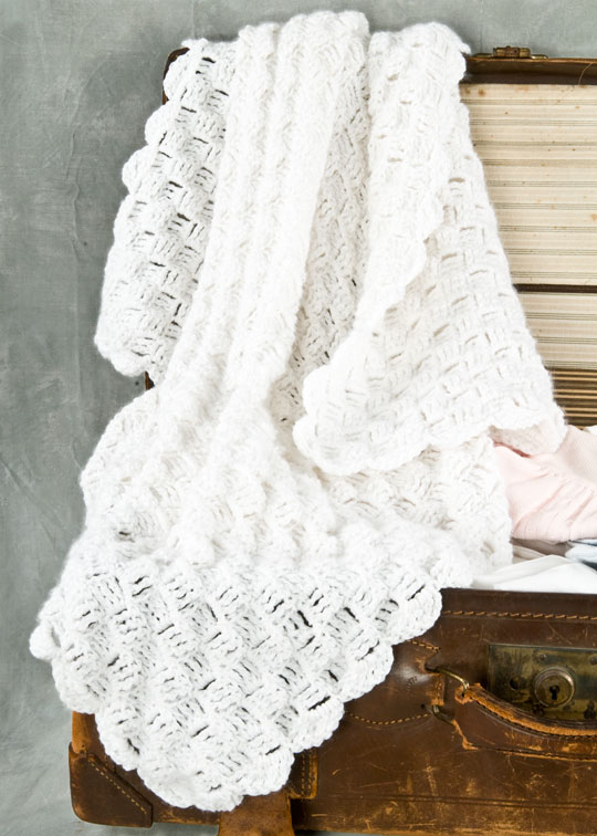 Basketweave Crochet Blanket