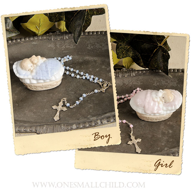 Baptism Gift Rosaries for Baby Boys and Girls