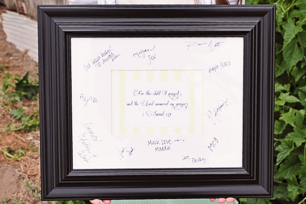 wedding wishes signature frame with engraving plate