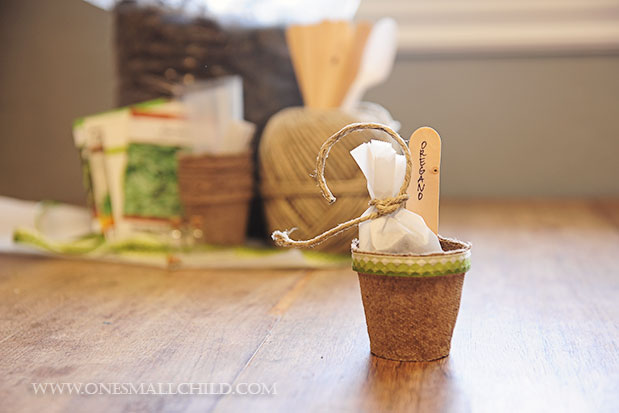 Herb Pot Favor Tutorial Finished