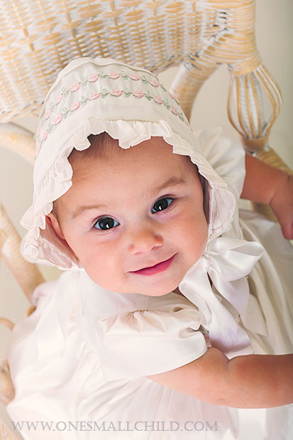 Jessa Silk Christening Gown | One Small Child