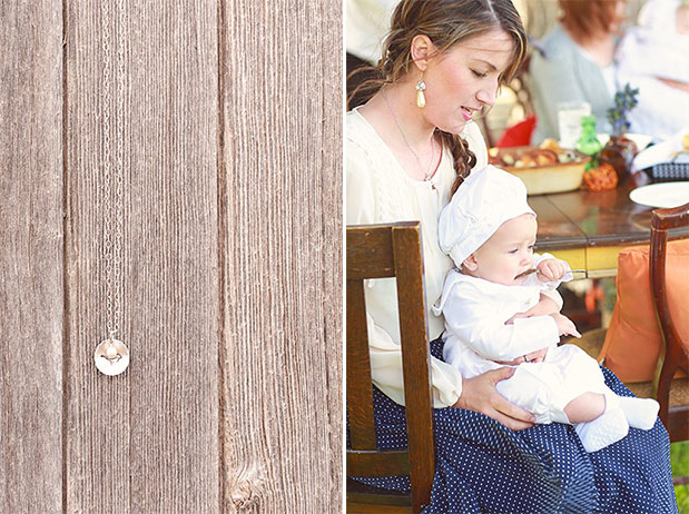Sterling Love Bird Mother's Necklace + Brakkin Christening Outfits for Boys