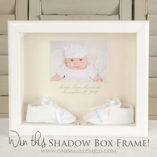 November Giveaway: White Shadow Box Frame {Closed} - One Small Child