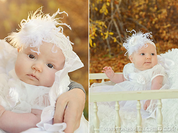 Tallie Christening Dress & Headband | One Small Child