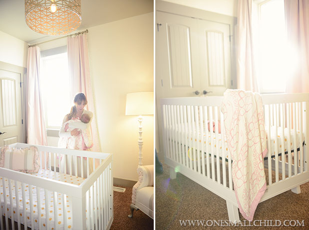 Nellies Pink Gold Gray Nursery - One Small Child