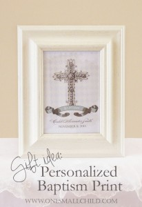 Christening Gifts for Girls and Boys: Personalized Baptism Print